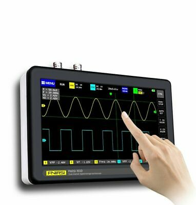 Fnirsi 1013d Mini 7 Touch Panel 2ch Digital Oscilloscope 100mhz Bandwidth 1gs