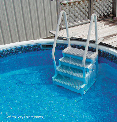 Confer Staircase Style Above Ground Pool Steps Warm Grey - STEP-1