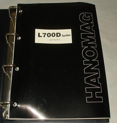 Hanomag Bulldozer Parts Catalog Model L 700 D Turbo Issue 1983