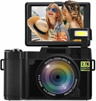 Digital Camera Vlogging 2.7K 24MP Full HD for YouTube 3.0 Inch 180 Rotation Flip