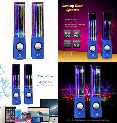 SoundSOUL Water Dancing Speakers Light Show Fountain LED (3.5mm Audio Plug,...