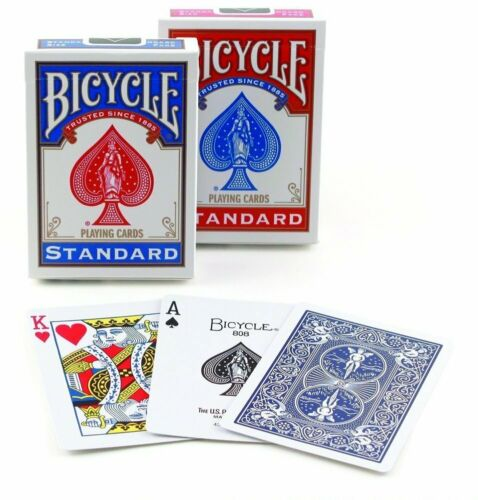 2 Decks Bicycle Standard Playing Cards Red/Blue New Sealed Decks