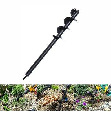 24 Planting Auger Spiral Hole Drill Bit Garden Yard Earth Planter Digger Hole