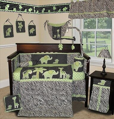 Baby Boutique - Animal Planet (Lime) - 13 pcs Crib Bedding Set