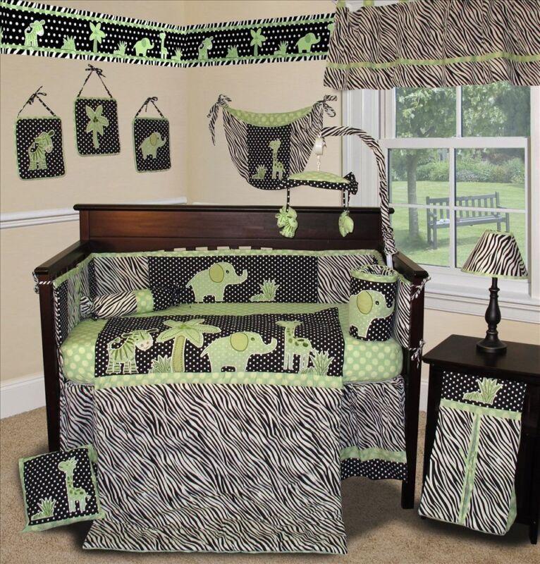 Baby Boutique - Animal Planet (Lime) - 13 pcs Crib Bedding Set
