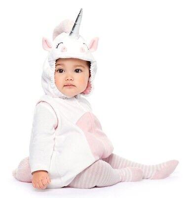 Over 18 Halloween Costumes (NEW CARTER'S BABY GIRL 3PC UNICORN PLUSH FLEECE HALLOWEEN COMPLETE COSTUME)