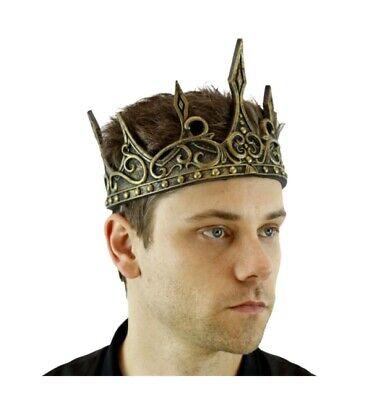 King Crown Halloween Costume (Gold King Foam Halloween Crown Medieval Adjustable Costume Accessory)