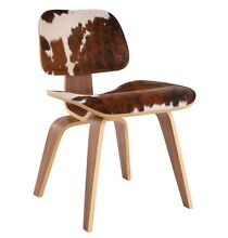 EIGHT (8) REPLICA EAMES DCW DINING CHAIR IN PONYHIDE Southport Gold Coast City Preview