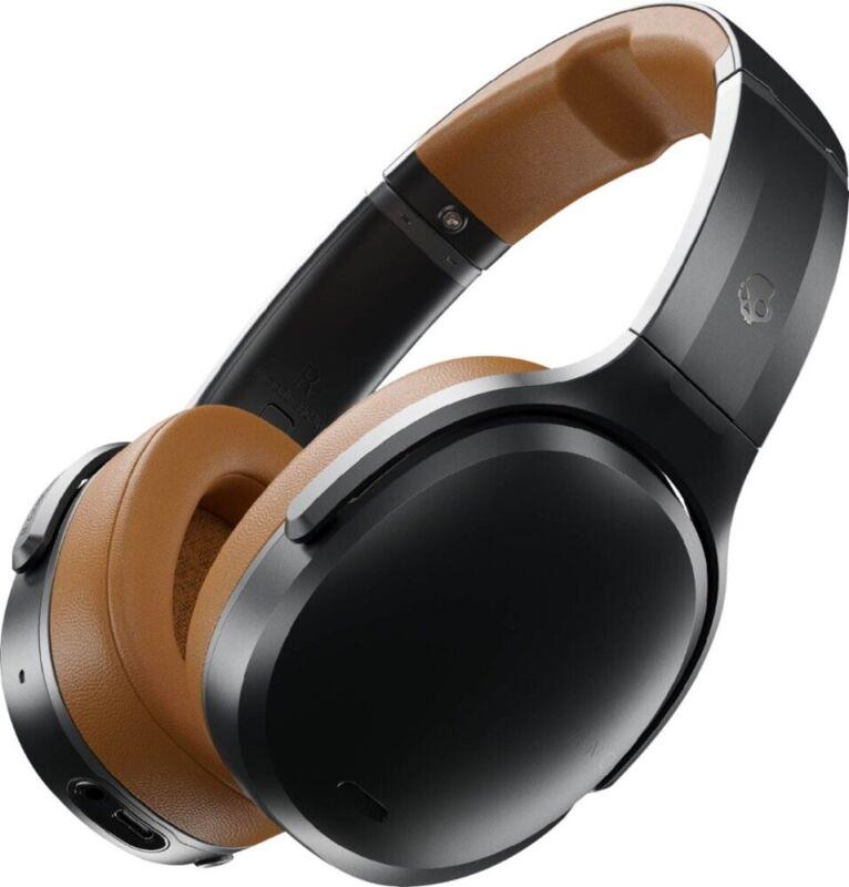 Skullcandy CRUSHER ANC Wireless Over the Ear Headphones w/ Mic-Refurb-BLACK/TAN