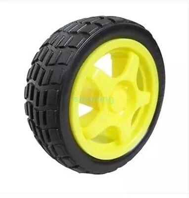 4pcs Smart Car Model Robot Plastic Tire Wheel 65x26mm For Arduino