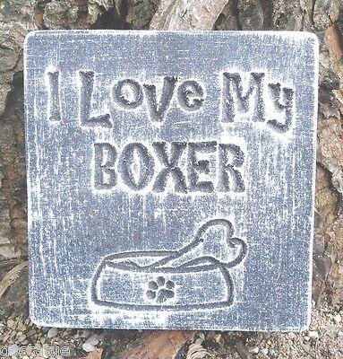 I love my boxer concrete plaster reusable abs plastic mold