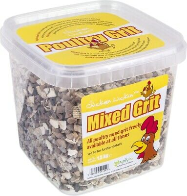 AgriVite Chicken Lickin' Mixed Poultry Grit 1.5kg - Inc Soluble & Insoluble Grit