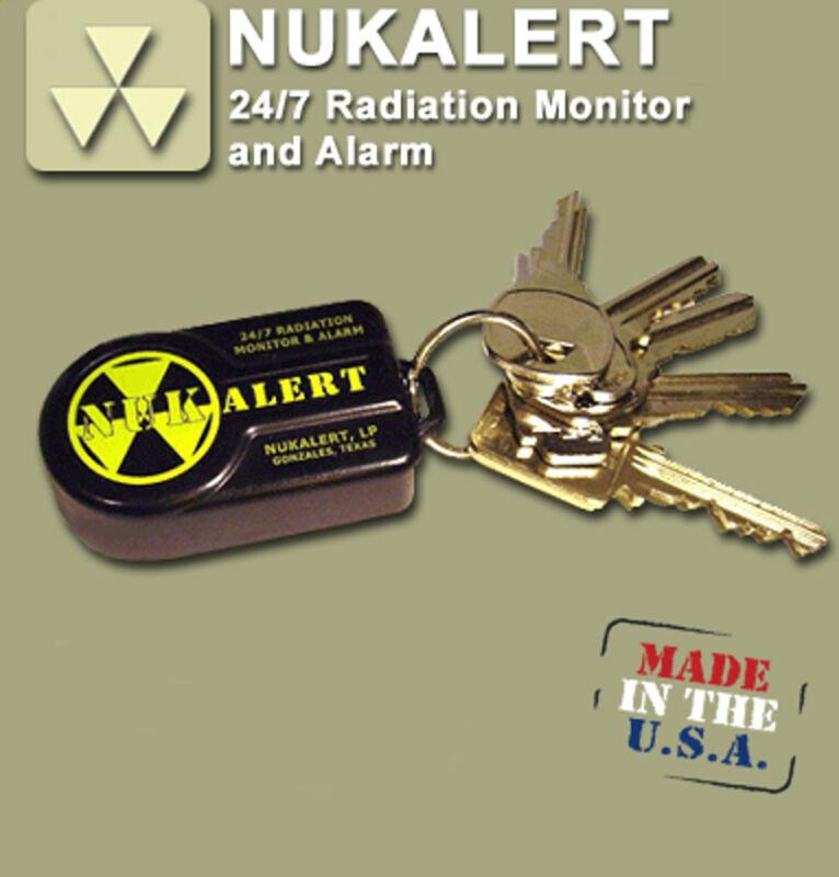 NukAlert™ nuclear radiation detector / monitor portable