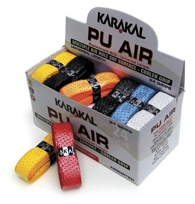 Karakal Coloured PU Super Tacky Air Cooler Grip For All Type Rackets Box Of 24