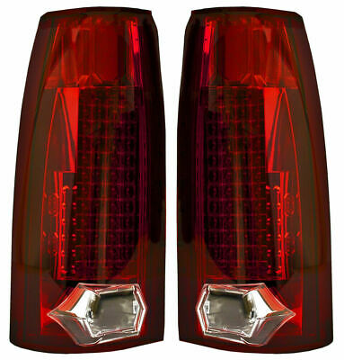 New Red LED Tail Lights For 88-98 Chevrolet GMC Cadillac GM2801104 GM2800104