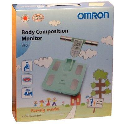 Omron BF-511 - türkis Körperanalyse-Gerät Körperfett-Waage Bio-Impedanz-Methode