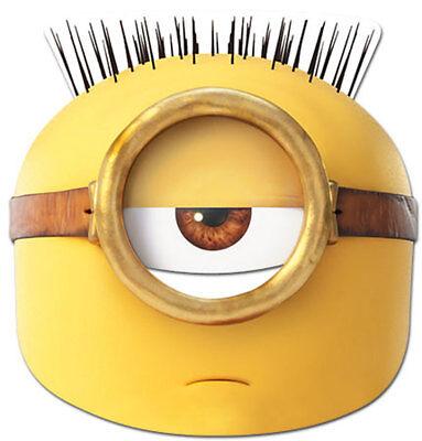 Hoch Minion (Minions - Egyptian Maske - hochwertiger Glanzkarton mit Augenlöchern)