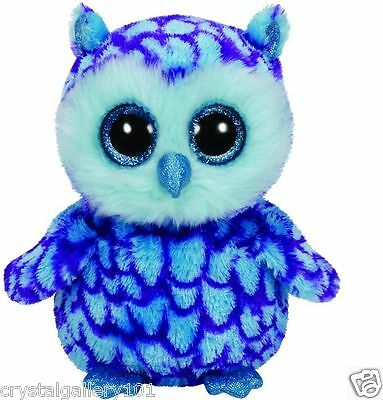 Ty Beanie Babies Boos Oscar Owl 6  Stuffed Collectible Plush Toy New