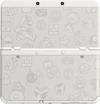 Original Nintendo 3DS Cover Plate Super Mario White Version Faceplate White Faceplate Cover