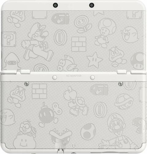 Original Nintendo 3DS Cover Plate Super Mario White Version Faceplate