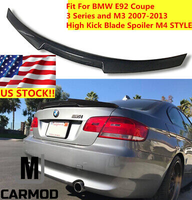 Fit For BMW E92 320i 328i 335i Coupe Carbon Fiber Rear Trunk Spoiler M4 STYLE for sale  Shipping to Canada
