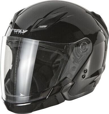 FLY Tourist Modular Motorcycle Helmet (Gloss Black) XL (Large Modular Motorcycle Helmet)