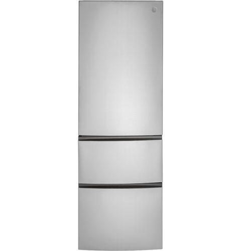 "GE GLE12HSPSS 24"" Stainless Steel Counter Depth Bottom Freezer Refrigerator"