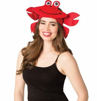 Happy Heads Red Crab Headband Adult Lobster Hat Halloween Costume Accessory - Red Head Halloween Costume