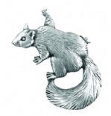 A.E. Williams Fine Brittish Pewter Lapel Hat Pin Climbing Squirrel  #35161