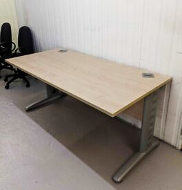 FREE SAME-DAY DELIVERY - Triumph Straight Office Desks, 1600mm wide