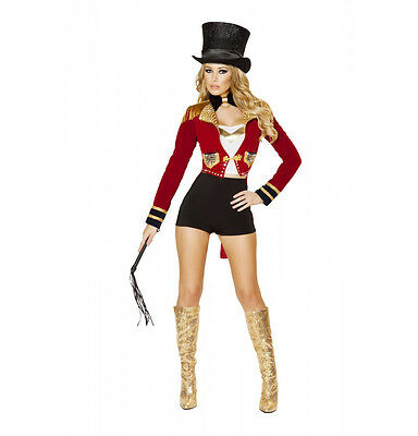 ircus Ring Leader Ringmaster Red & Black Deluxe Costume 4518 (Circus Ring Leader)