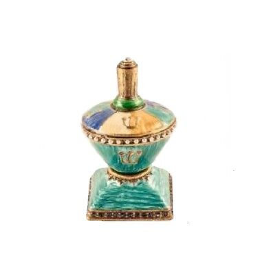 Jeweled Decorative Dreidel Enamel over Solid Pewter Base with Swarovski Crystals
