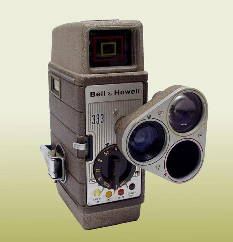 Vintage Bell & Howell 333 8MM Home Movie Camera