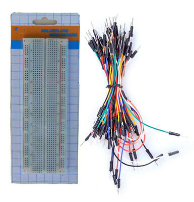 Tektrum Solderless 830 Tie-points Experiment Plug-in Breadboard Kit With Wires