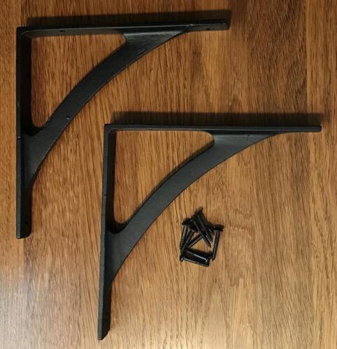 Small Cast Iron Arch Style Shelf Brackets (Pair)