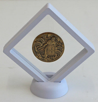 Display Stand Floating Challenge Coin Medal Jewelry Holder Display Case CN13