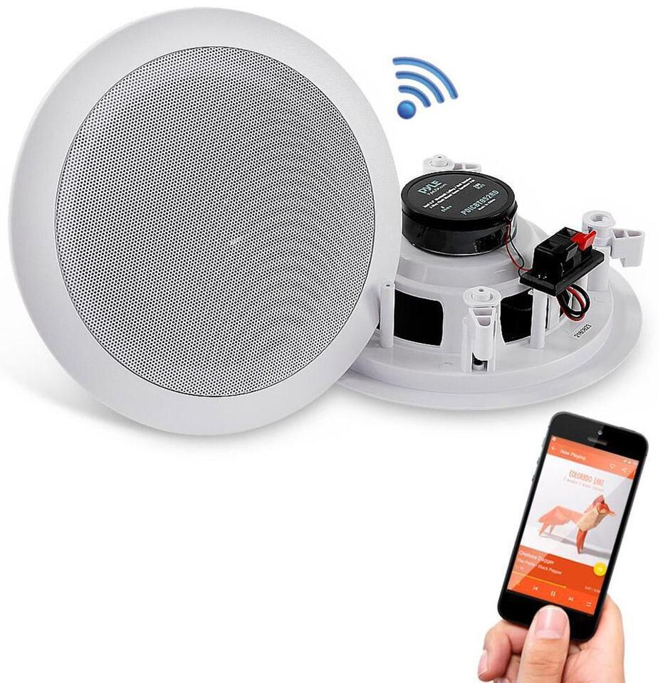 Pyle Pdicbt552rd Bluetooth Ceiling Speakers Easy Surround Sound Wiring Home Listing Item