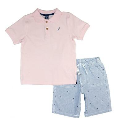 Nautica Boys Pink Polo 2pc Short Set Size 2T 3T 4T 4 5 6 7 8 10 12