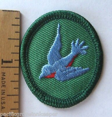 Retired Oval Girl Scout BLUEBIRD TROOP CREST Bird Badge Patch Identification NEW