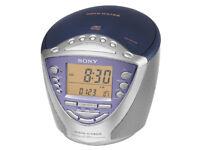 Sony ICF-CD853L FM CD Clock Radio