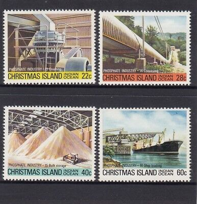 CHRISTMAS Island 1981 Phosphate MINING INDUSTRY set of 4 MNH - to Shipping. ()