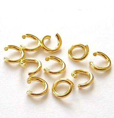 10 Biegeringe Ringe 5,0 mm 925 Silber vergoldet Schmuckzubehör Schmuck basteln