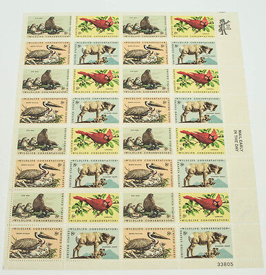 Scott  1464 67 Wildlife Conservation Sheep Seals 8C Full Stamp Sheet W 32 Stamps