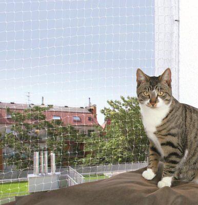 Trixie 44333 Schutznetz Katzenschutznetz, 6 × 3 Meter, transparent