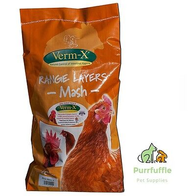 20KG COPDOCK MILL RANGE LAYERS MASH FOOD WITH VERM-X POULTRY CHICKEN FEED