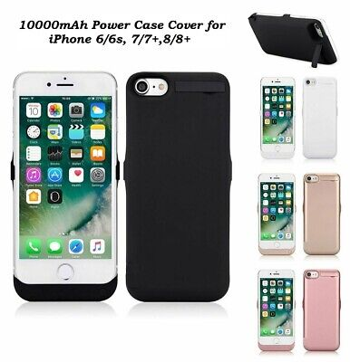 10000mAh External Battery Charger Cover Power Case For Apple iPhone 6/6S, 7 & 8