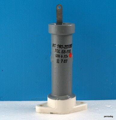 Rft Draloric Standard Capacitor Rc20x80 160pf 4kv 8kva Arms-6a  Tgl 68-110
