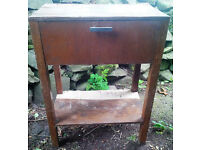***FREE TO COLLECT*** - Small side / lamp table with pull-down storage drawer. Perfect for upcycling