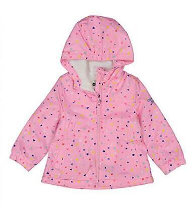 Osh Kosh B'gosh Girls Pink Heart Print Jacket Size 4 5/6 6X