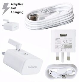 Samsung fast adaptive charger for samsung s6/s6edge, s7/s7 edge A3/A5 with free cable only in £10